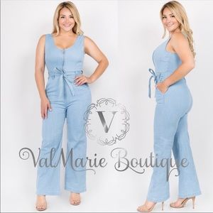 9ae512104e6 Women s Plus Size Denim Jumpsuit on Poshmark